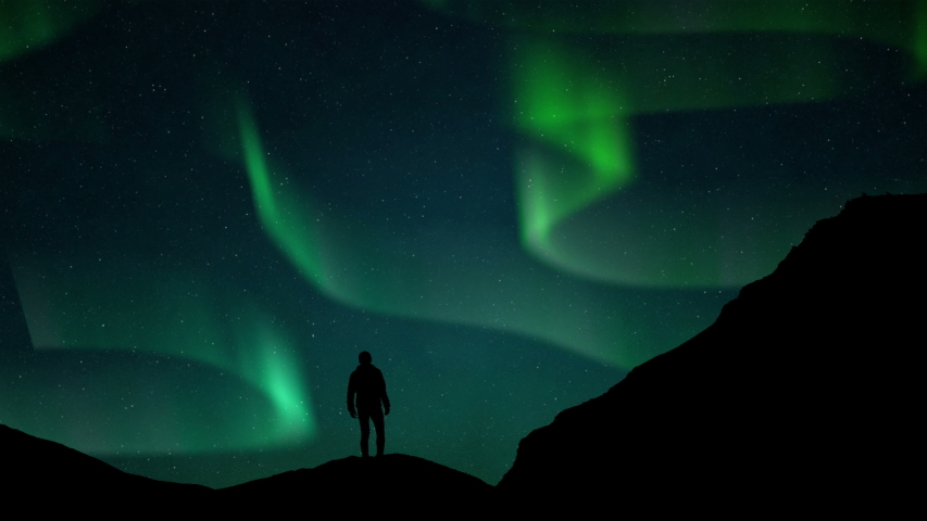 Northern lights Iceland Polar Aurora Borealis, Northern lights  Norway Aurora Borealis, Northern lights Canada Polar Aurora Borealis, Northern lights Finland Aurora Borealis 4k Video Polar Animation