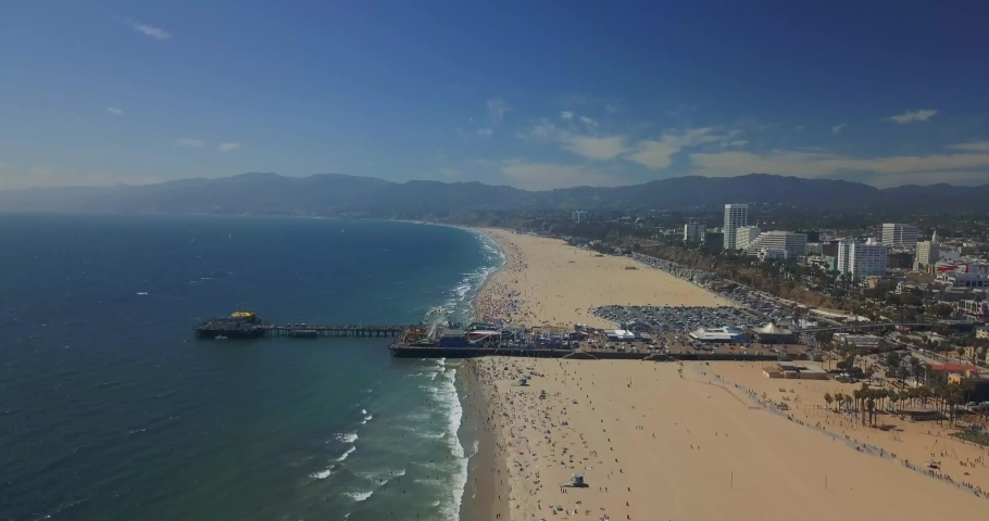 Drone Aerial Footage of the Santa Monica Pier