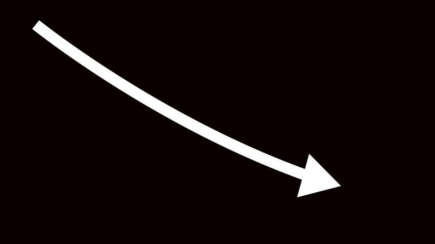 4k fall down red arrow,Business decline trend.  | Shutterstock HD Video #1036722002