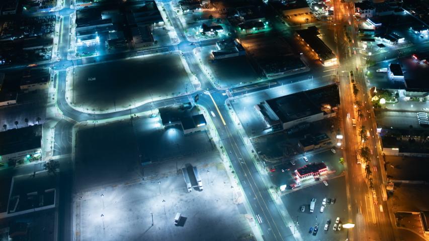 Las Vegas Downtown Traffic Aerial Time Lapse | Shutterstock HD Video #1036726631