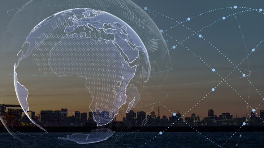 World map point, line, composition, representing the global, Global network connection,international meaning.   Shutterstock HD Video #1036815482