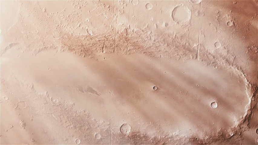 Weird Martian Crater called Orcus Patera in Mars. Zoom in Shot. Elements of this image furnished by NASA.  | Shutterstock HD Video #1036835756