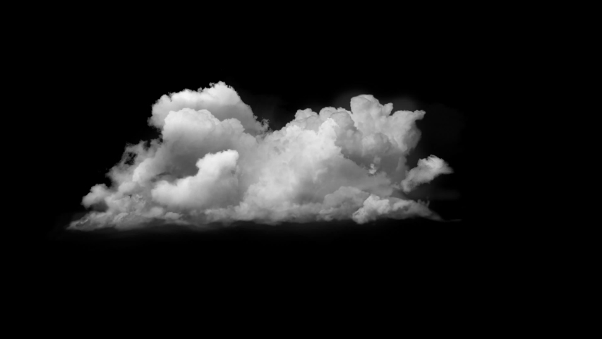 4K Cloud Footage Ready to use in your Composition, 3D Puffy fluffy white sky cloud, isolated realistic Cloud on black background | Shutterstock HD Video #1036925732