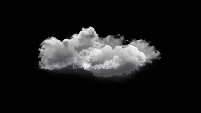 4K Cloud Footage Ready to use in your Composition, 3D Puffy fluffy white sky cloud, isolated realistic Cloud on black background | Shutterstock HD Video #1036925738