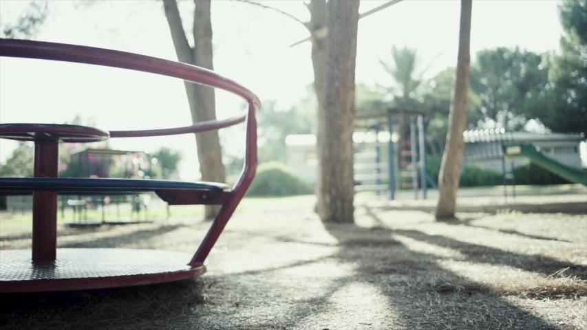 Illustration of a sad empty playground