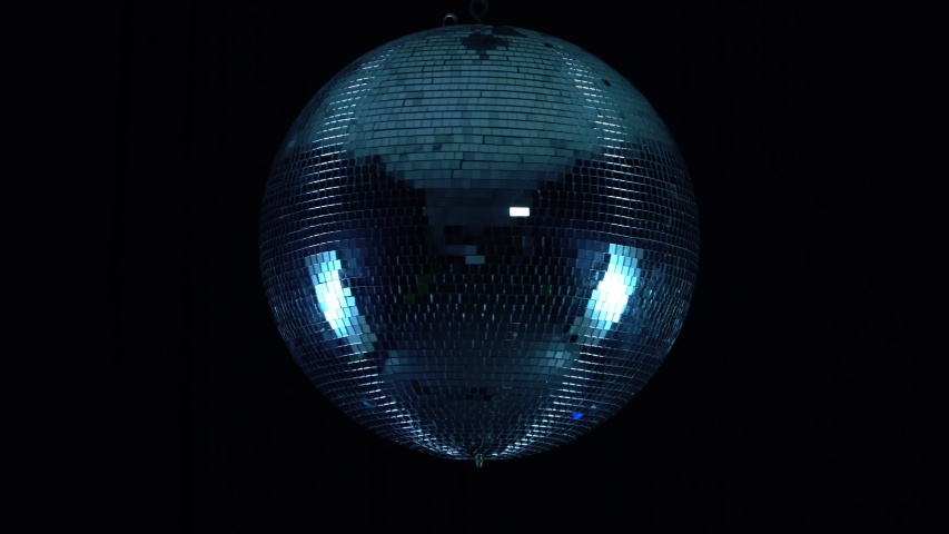 Party lights disco ball on black background   Shutterstock HD Video #1036981739