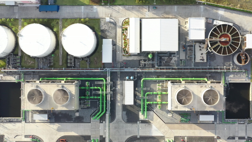 Top view of electric substation,electrical and production | Shutterstock HD Video #1036982501