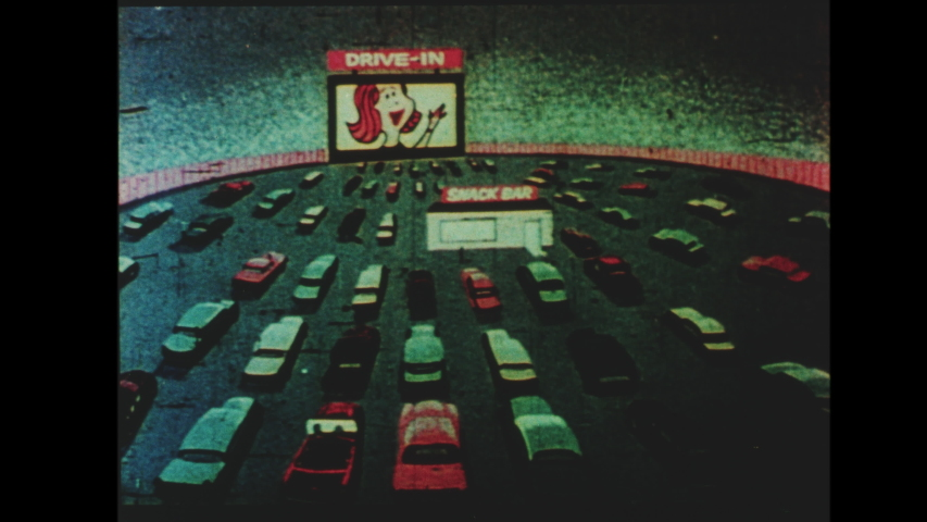 1960s Drive In Movie Theater Intermission Stock Footage Video 100 Royalty Free 1037010836 Shutterstock
