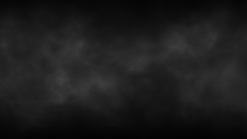 Gray black smoke dark horror background. Halloween Spooky night with animation seamless loop with glitch and noise effects.