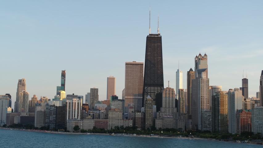 Chicago Summer Skyline - Aerial View