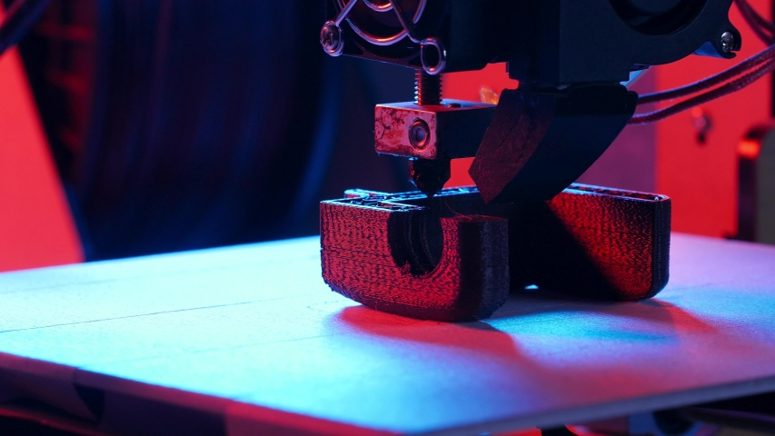 3D printing or additive manufacturing and robotic automation concept. Three dimensional 3d printer performs product creation | Shutterstock HD Video #1037119634