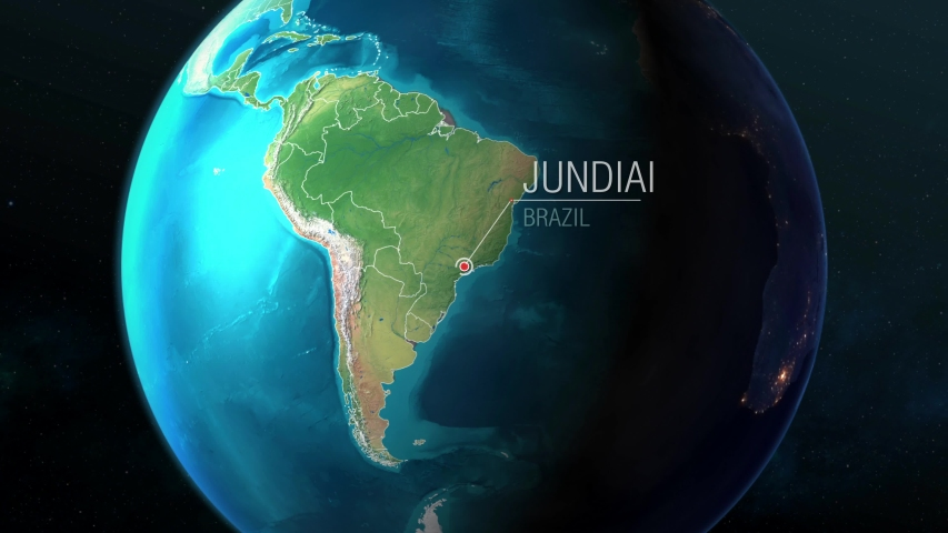 Brazil - Jundiai - Zooming from space to earth Royalty-Free Stock Footage #1037128775