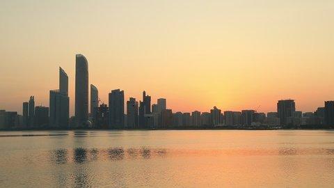 Sunrise in Abu Dhabi, United Arab Emirates