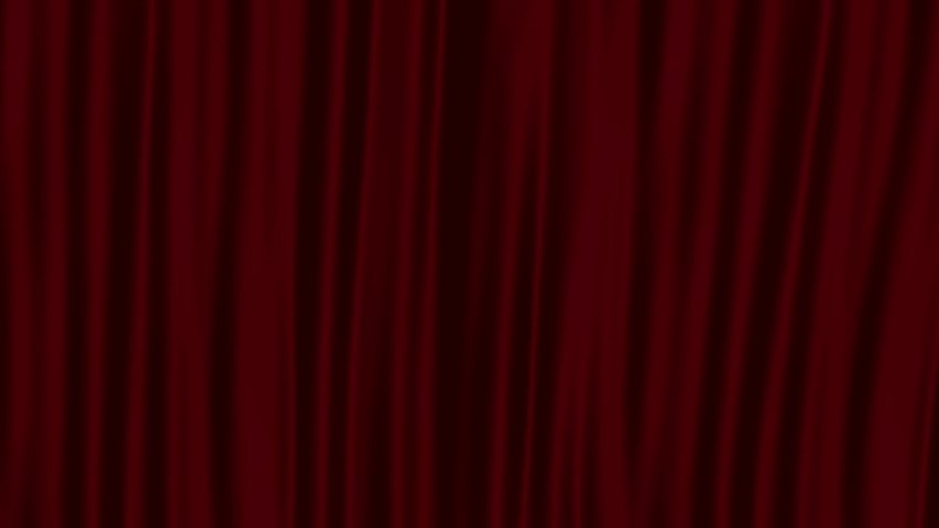 Red curtain opens on a green background | Shutterstock HD Video #1037217881