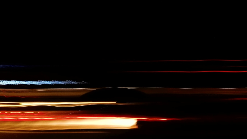 View of Light Trails from side of car at night background | Shutterstock HD Video #1037224439