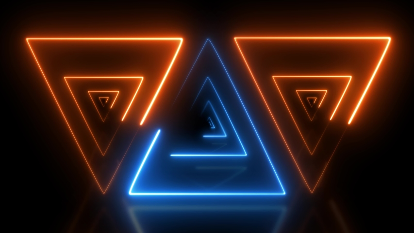 Abstract light orange and light background. abstract blue light on orange triangle.    Shutterstock HD Video #1037272088
