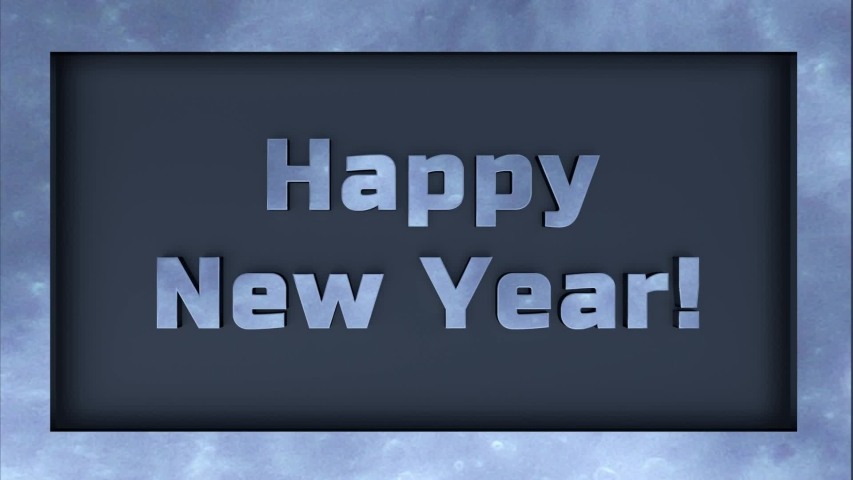 The Animated Text Frame Background of Happy New Year | Shutterstock HD Video #1037334770