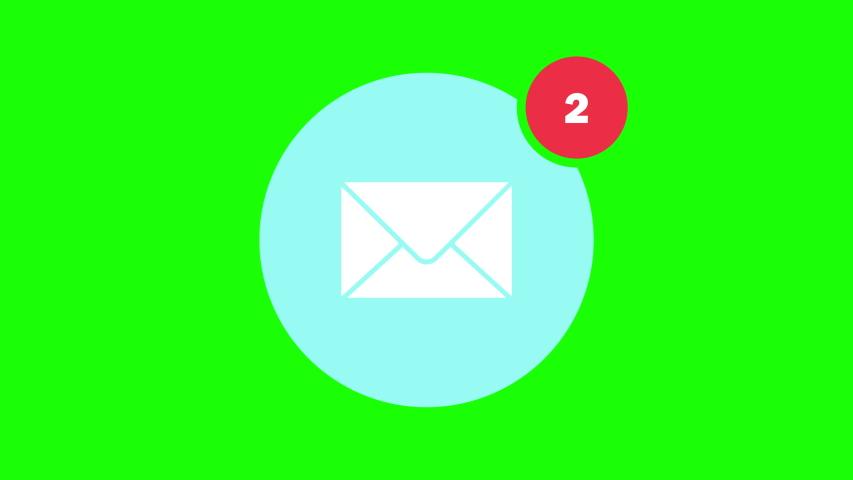green screen inbox notification inbox message inbox green screen email notification email message email green screen icon notification icon message icon green screen animation notification animation  Royalty-Free Stock Footage #1037377421