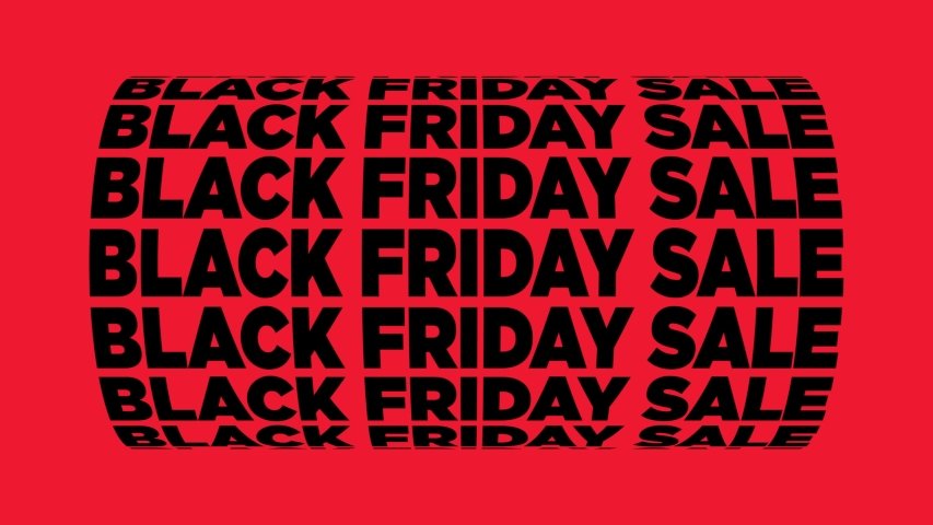 Black Friday Sale Spinning Text Animation   Shutterstock HD Video #1037386352