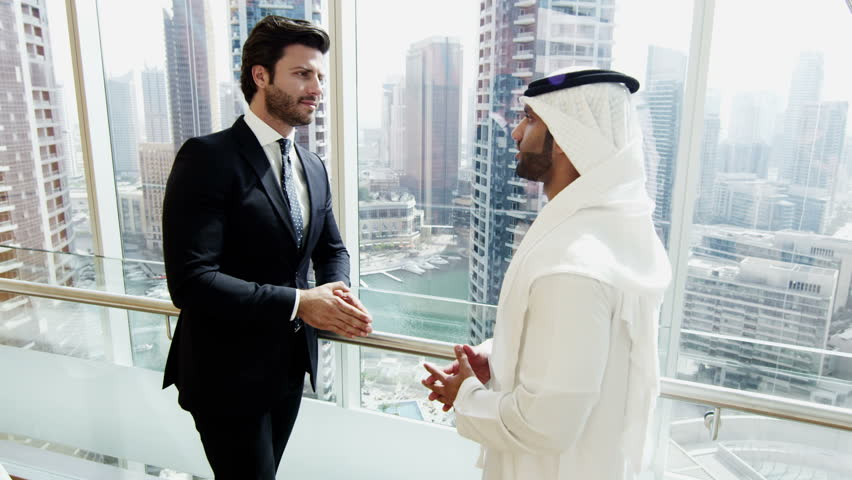Handshake American Arabic business male conference convention meeting travel   Shutterstock HD Video #10373873