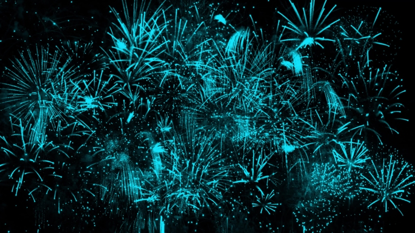 4K. loop seamless of real fireworks background. abstract blur of real golden shining fireworks with bokeh lights in the night sky. glowing fireworks show. New year's eve fireworks celebration Royalty-Free Stock Footage #1037447474