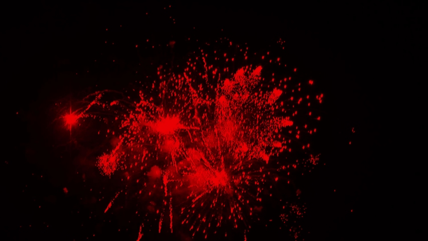 4K. loop seamless of real fireworks background. abstract blur of real golden shining fireworks with bokeh lights in the night sky. glowing fireworks show. New year's eve fireworks celebration | Shutterstock HD Video #1037447939