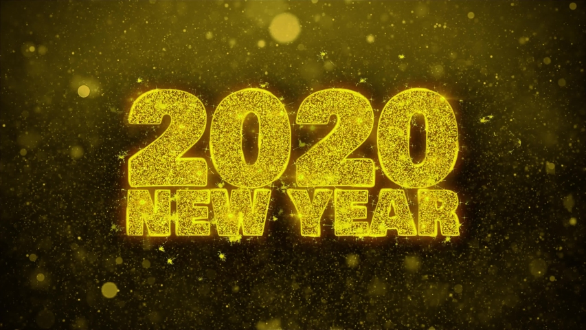 2020 New Year wish Text Golden Glitter Glowing Lights Shine Particles. Greeting card, Wishes, Celebration, Party, Invitation, Gift, Event, Message, Holiday, Festival 4K Loop Animation. | Shutterstock HD Video #1037461130