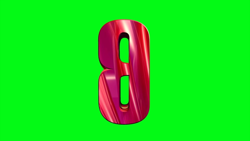 3D Animated alphabet letter B video font footage format with green screen background for video key effect | Shutterstock HD Video #1037486441