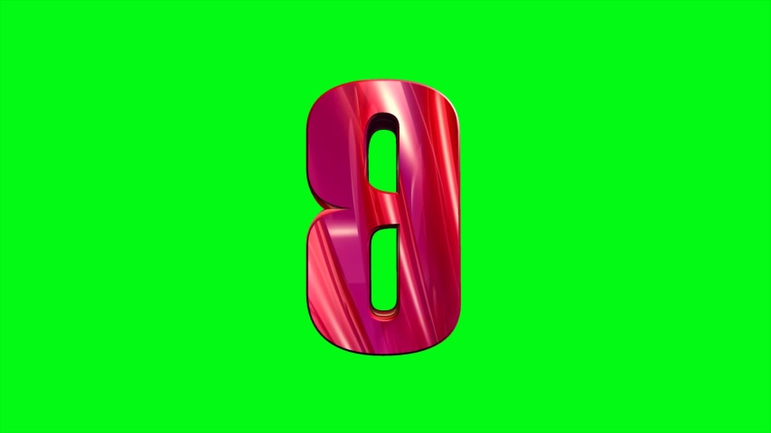 3D Animated alphabet letter B video font footage in QuickTime .mov format with green screen background for video key effect | Shutterstock HD Video #1037487521