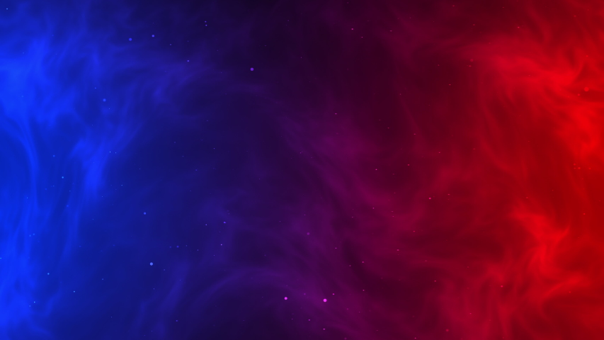 Red fire versus blue ice smoke dynamic abstract background with star vertex swirl movement texture