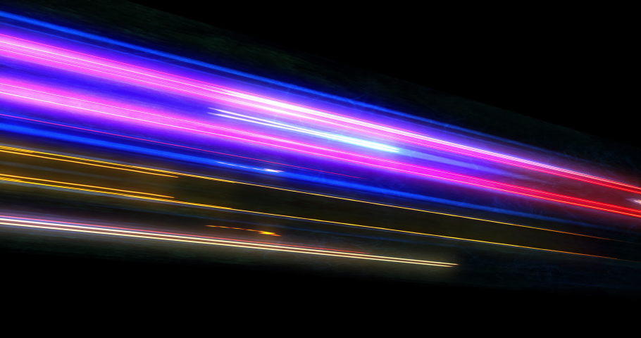 Super fast car night traffic lights. City life, urban scene, car light trails, transport and traffic concept. Long exposure, Travel concept, Science hyperspeed teleport movement, warp speed. | Shutterstock HD Video #1037502764