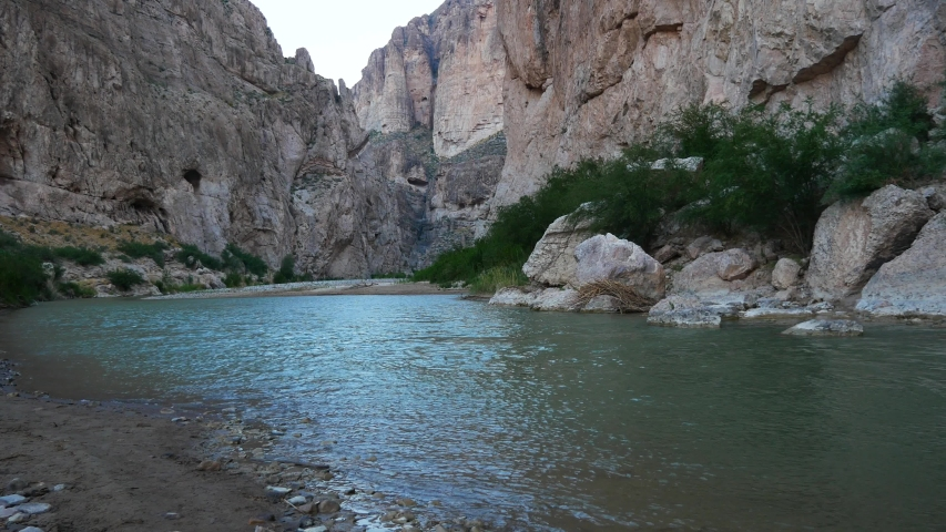 The Rio Grande River in Big Bend National Park just before sunrise (Texas).