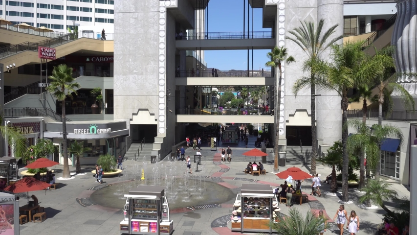 People in The Hollywood & Highland, famous Shopping Mall of Hollywood in Los Angeles, on 5 September 2019 | Shutterstock HD Video #1037536181