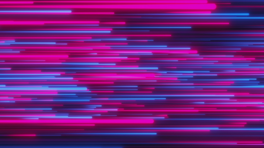 Looped animation. Abstract background with bright beams in red and blue color moving up. Modern colorful wallpaper. 3d rendering.   Shutterstock HD Video #1037544929