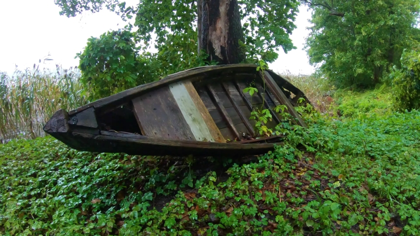 An Old Rowing Boat Abandoned Stock Footage Video (100% Royalty-free)  1037606504   Shutterstock