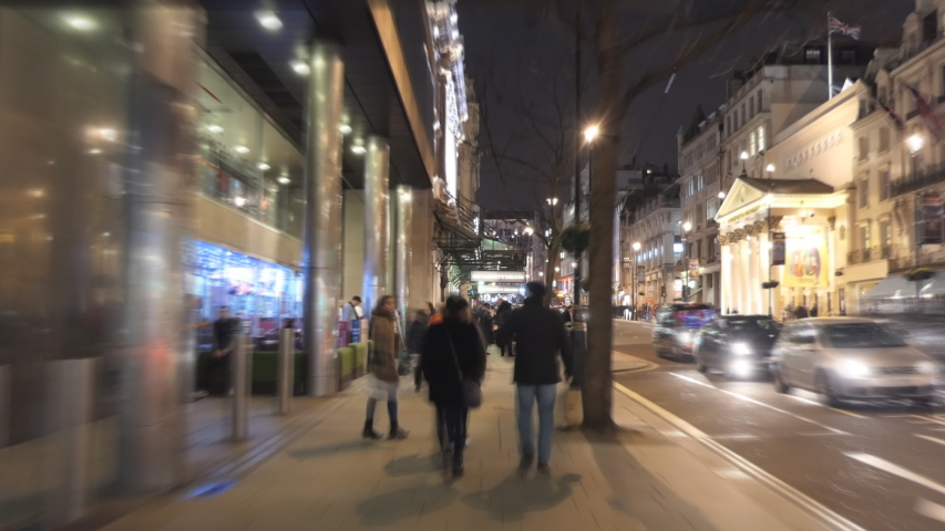 Time lapse. A stroll around central London at night.   #1037654087