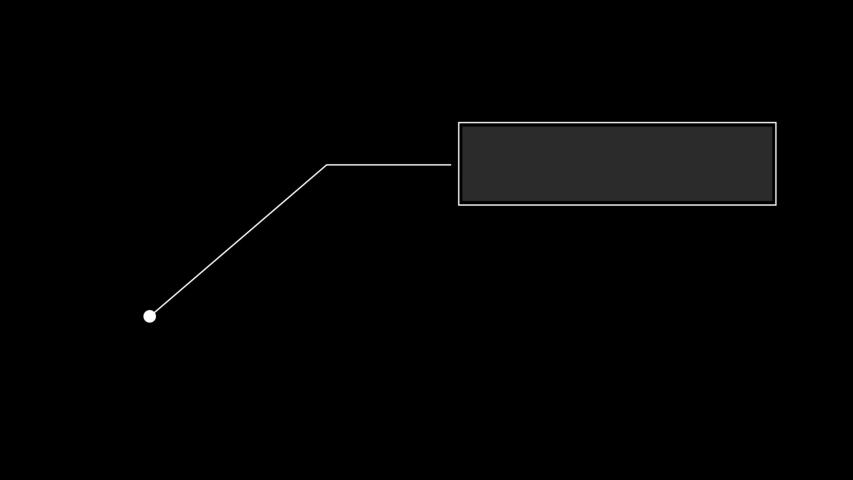 HUD elements animation on black background