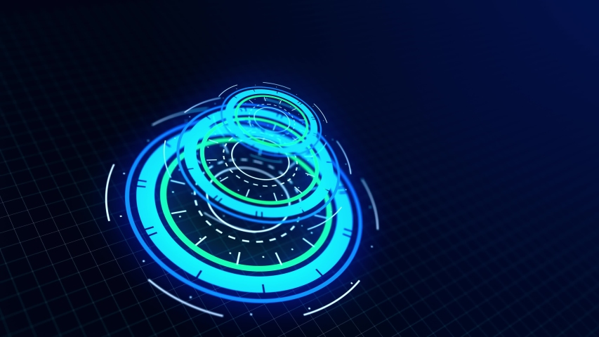 Futuristic interface hud design, infographic elements like scanning graph or hologram.Tech and science, analysis theme. Available in 4K video 3D render footage. | Shutterstock HD Video #1037788226