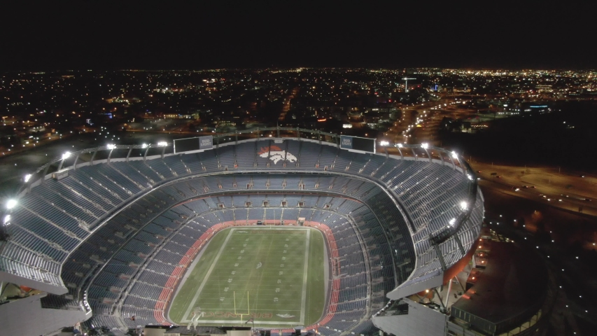 Denver , CO / United States Virgin Islands (US) - 11 25 2018: Empower Field at Mile High, previously known as Broncos Stadium at Mile High