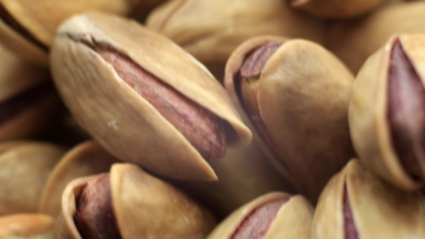 Roasted pistachios close-up. Pistachio nut with salt. macro | Shutterstock HD Video #1037794892