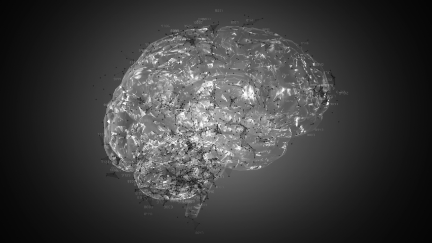 Brain ainimation loop. You can use it for a technology, stage, communication or social media background. Seamless loop. | Shutterstock HD Video #1037838407