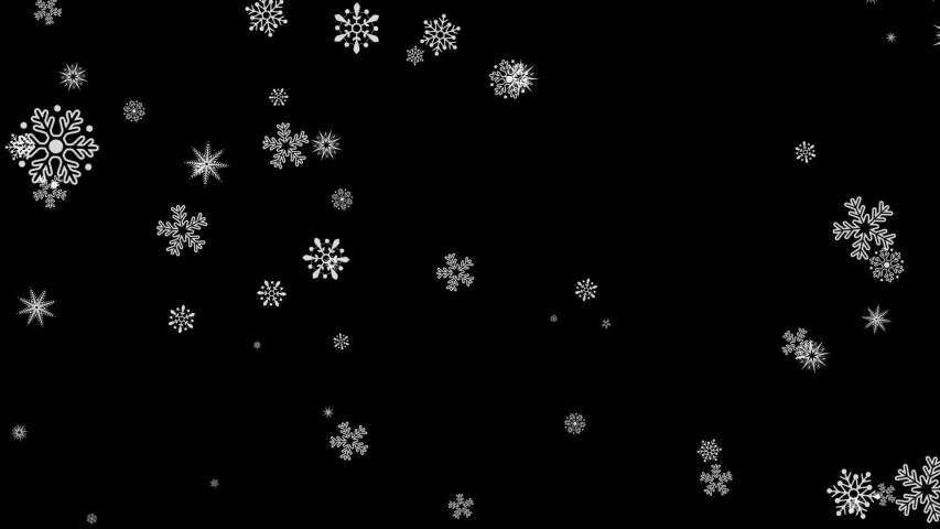 Beautiful animation of flying snow flakes blizzard	 | Shutterstock HD Video #1037873270