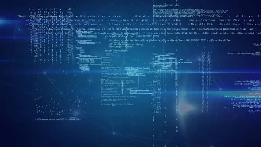 Animation of a global network and data connections with data processing on a blue background | Shutterstock HD Video #1037908868