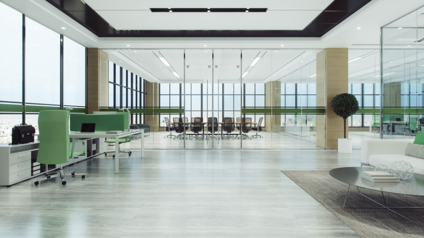 Entering Modern Office Conference Room | Shutterstock HD Video #1037934245