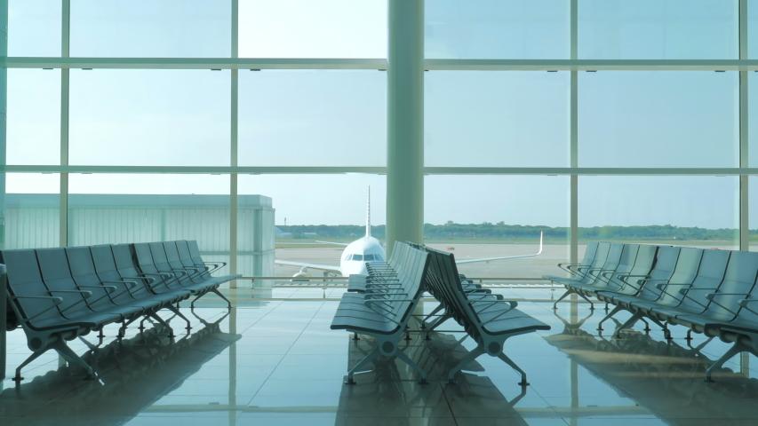 Fuerteventura, Canary Islands,Spain, May 12 2016: empty modern airport