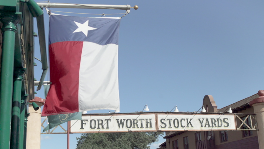 Fort Worth, Texas - September 26 2019: Stock Yards banner