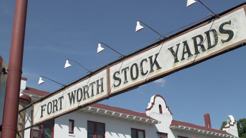 Fort Worth, Texas - September 26 2019: Stock Yards banner