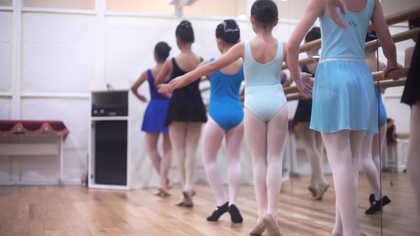 jakarta , jakarta / Indonesia - 06 17 2019: ballerina is training