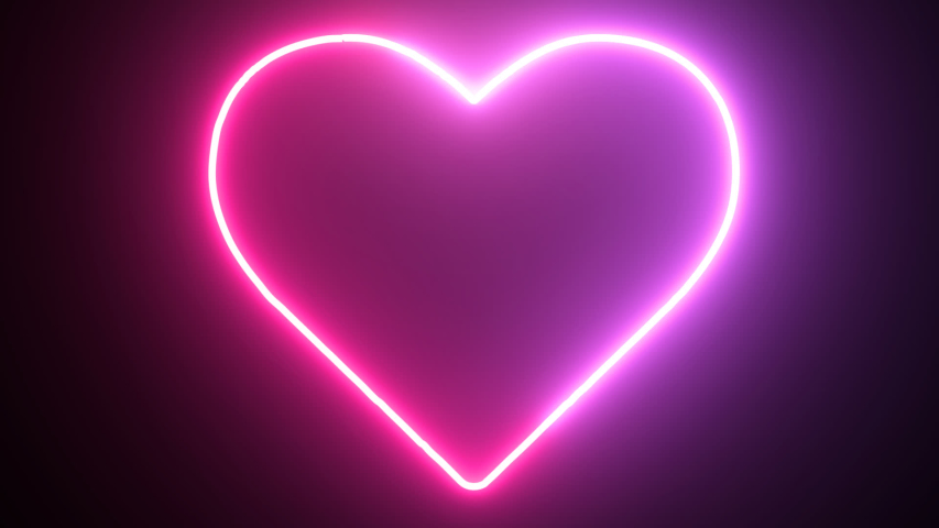 Glowing, colorful neon heart animation Romantic party HD background | Shutterstock HD Video #1037962919