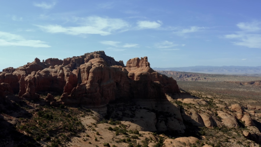 Beautiful red rock located within Arches in Moab, Utah. | Shutterstock HD Video #1037981579